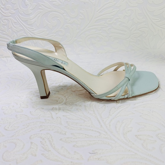 1a8bf99be2 Michele D soft pale blue heels 8.5 ankle strap